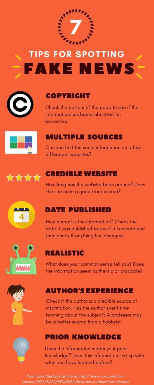 7 tips for spotting fake news