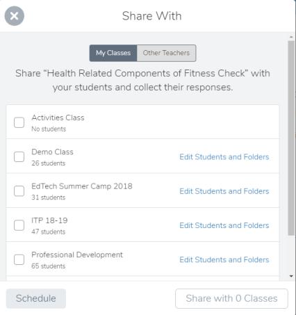 Activities Sharing